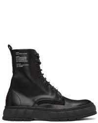 Viron Black Apple Leather 1992 Boots