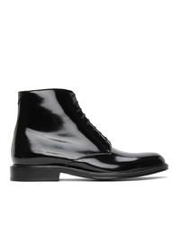 Saint Laurent Black Army Lace Up Boots