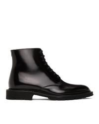 Saint Laurent Black Cesna 20 Lace Up Boots