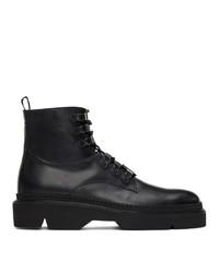 Etro Black Combat Boots