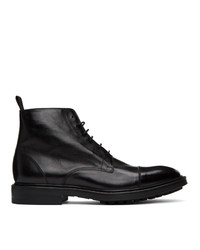 Paul Smith Black Cubitt Wingtip Boots