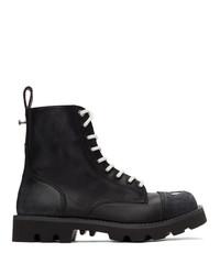 Diesel Black D Konba Combat Boots