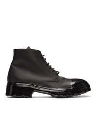 424 Black Dipped Boots