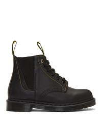 Yohji Yamamoto Black Dr Martens Edition Lace Up Boots