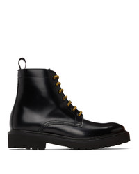 Paul Smith Black Farley Lace Up Boots