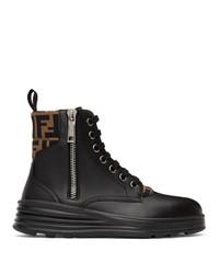 Fendi Black Forever Biker Boots