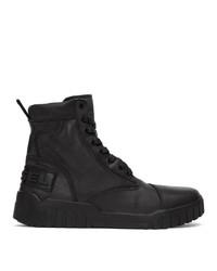 Diesel Black H Rua Am Lace Up Boots