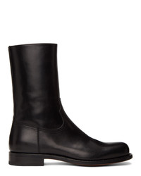 Dries Van Noten Black Half Boots