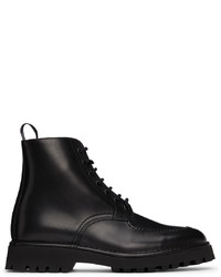 Kenzo Black K Mount Lace Up Boots