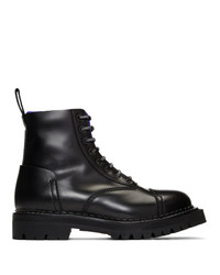 Kenzo Black Kamden Lace Up Boots