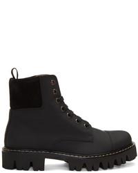 Marc Jacobs Black Lace Up Boots