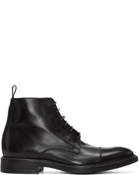 Paul Smith Black Lace Up Jarman Boots