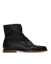 Loewe Black Loafer Boots