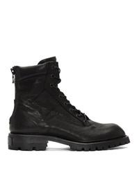 Julius Black Military Boots