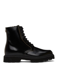 Gucci Black Mystras Lace Up Boots