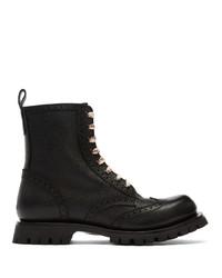 Gucci Black New Arley Boots