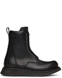 Rick Owens Black Para Boots