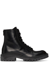 Kenzo Black Pike Lace Up Boots