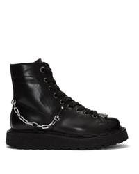 Neil Barrett Black Punk Chain Gorilla Boots