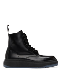 Paul Smith Black Renzo Lace Up Boots