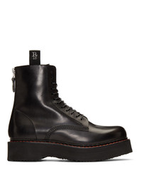 R13 Black Single Stack Boots