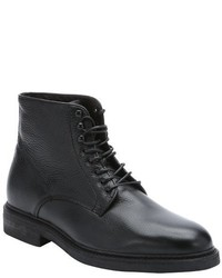 a. testoni Brown Leather Lace Up Ankle Boots