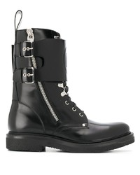 Balmain Buckled Biker Boots