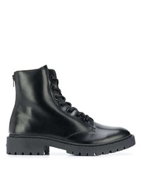 Kenzo Chunky Zip Up Leather Boots