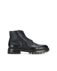 Santoni Flat Lace Up Boots