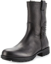 Aquatalia Hale Weatherproof Leather Boot Black