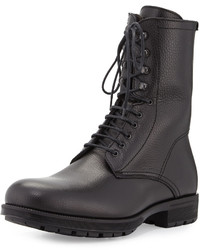 Aquatalia Hayden Weatherproof Leather Ankle Boot Black