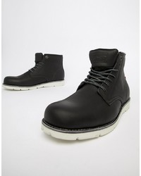 Levi's Jax High Leather Boot In Black