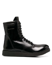 Emporio Armani Lace Up Combat Boots