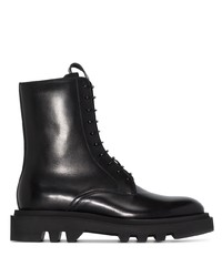 Givenchy Lace Up Leather Combat Boots