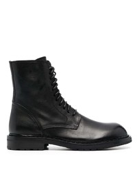 Ann Demeulemeester Laced Leather Ankle Boots