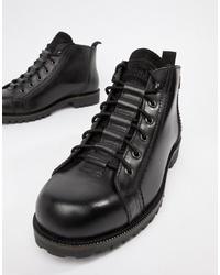 Levi's Lexington Leather Boot In Black
