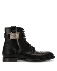 Dolce & Gabbana Logo Plaque Ankle Boots