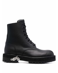 Off-White Metallic Detail Ankle Boots
