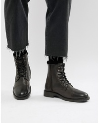 Pier One Military Lace Up Boots In Brown Distress