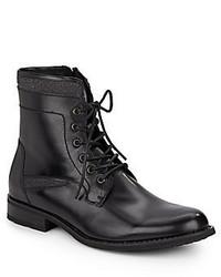 Joe's Jeans Mitch Leather Textile Lace Up Boots