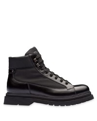 Prada Panelled Lace Up Boots