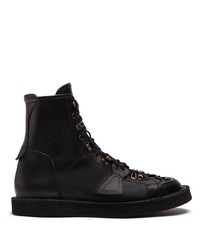 Dolce & Gabbana Panelled Lace Up Boots
