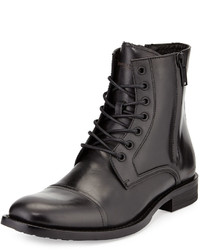 Kenneth Cole Piece Of Mind Leather Cap Toe Boot Black