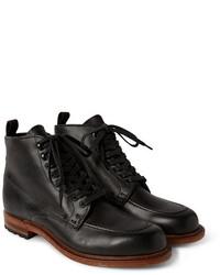 Rag and Bone Rag Bone Rowan Leather Lace Up Boots