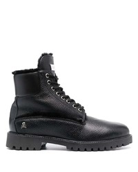 Philipp Plein Shearling Lined Lace Up Boots