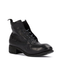 Guidi Slouched Lace Up Ankle Boots