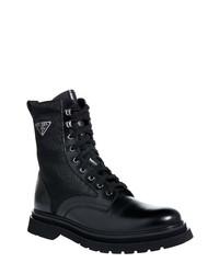 Prada Spazzolato Lugged Combat Boot