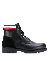 Tommy Hilfiger Stripe Detail Lace Up Boots