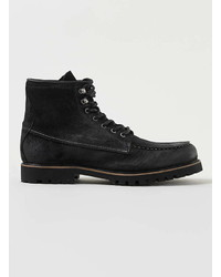 Topman Black Leather Lace Boots