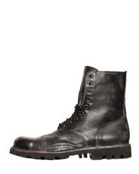 Diesel Vintage Effect Lace Up Leather Boots